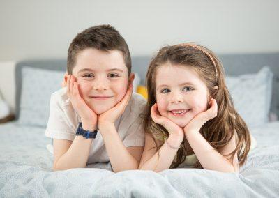 kids pose for the camera - baby photographer tunbridge wells