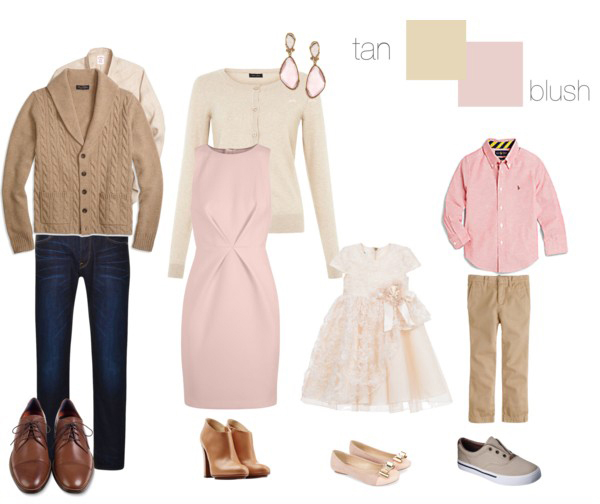 tan and pink clothing suggestions for what to wear on your family photo shoot